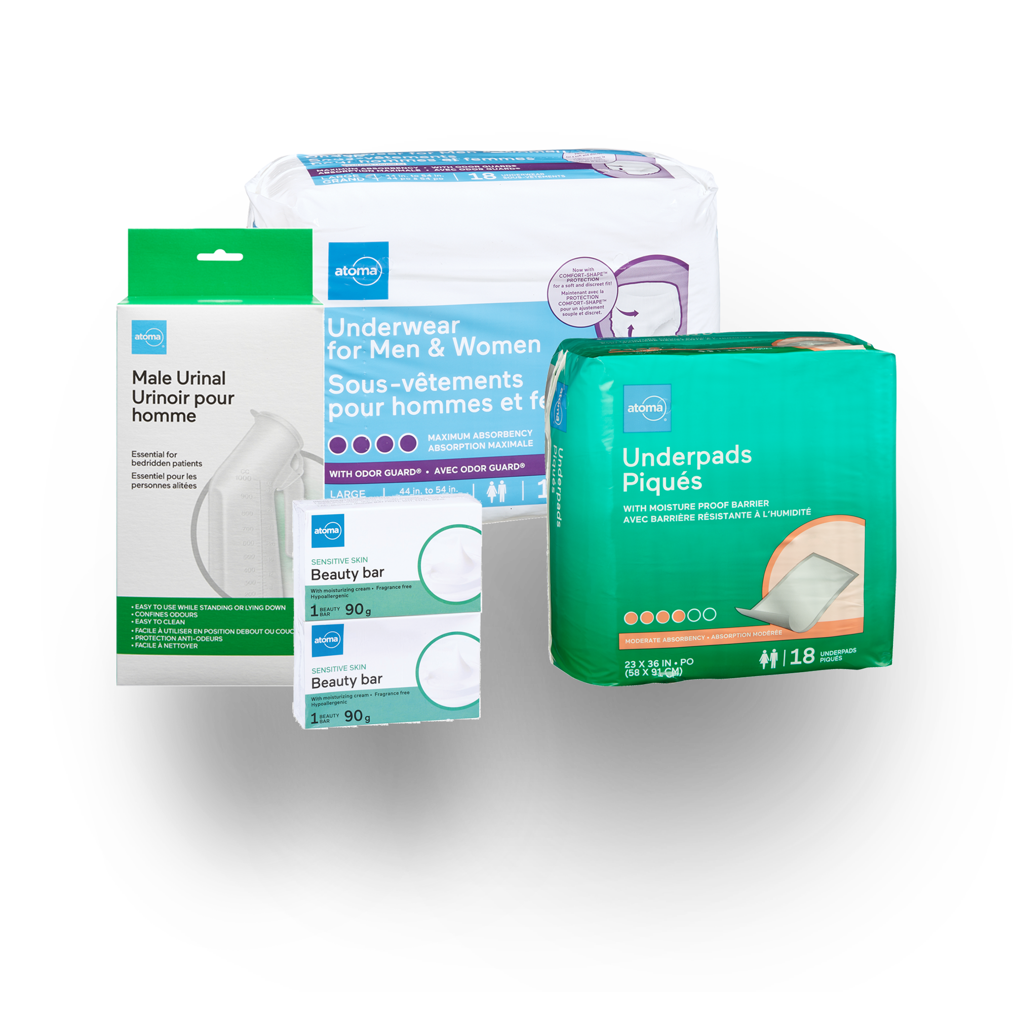 atoma incontinence products for those who are bedridden