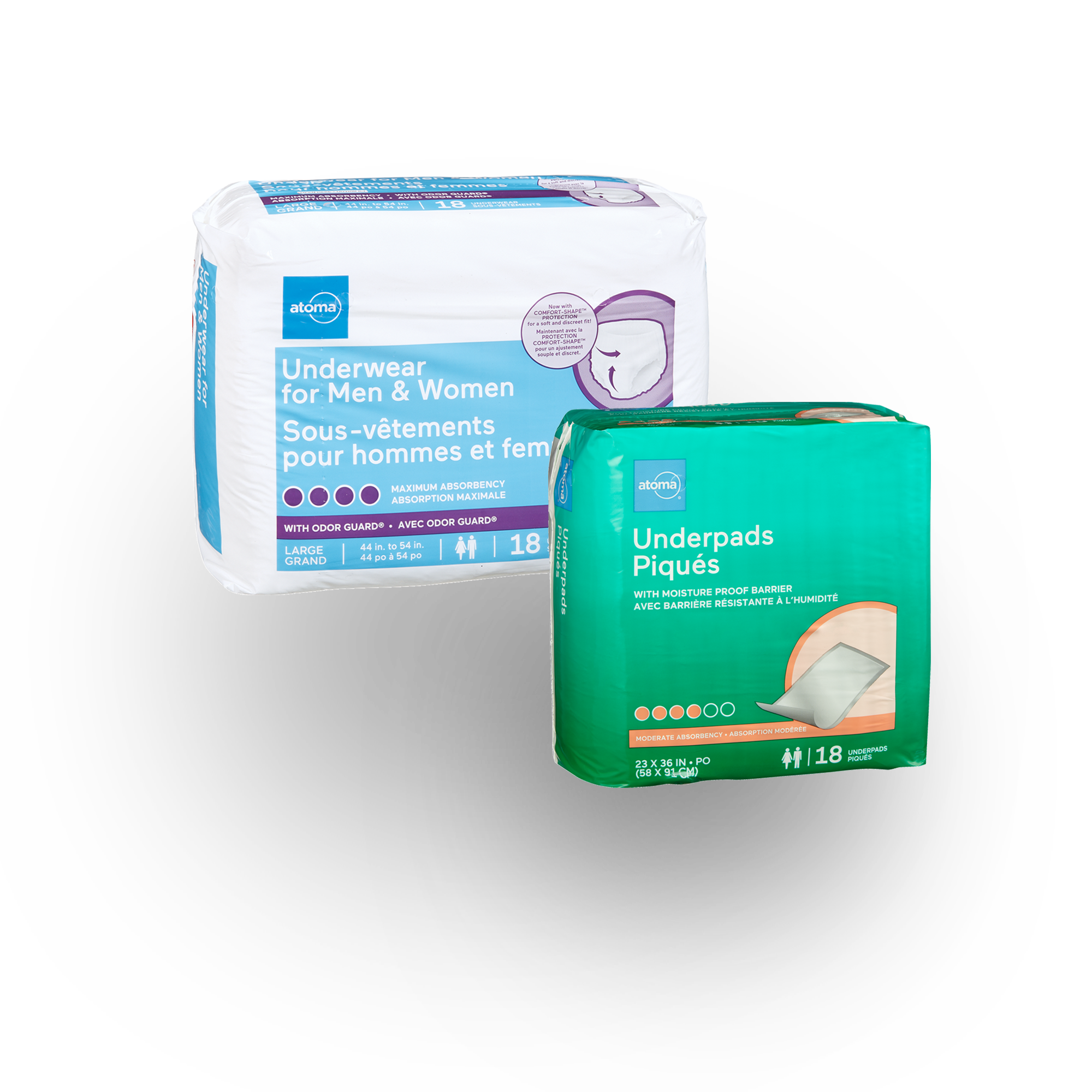 atoma incontinence products for those with reduced mobility